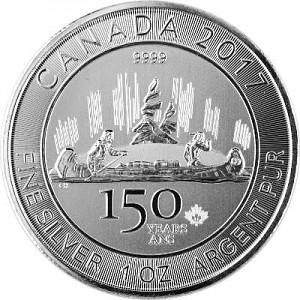 Canada 150 ans Voyageur 1oz d'Argent - 2017