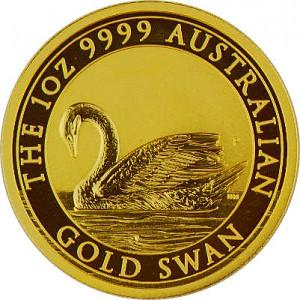 Cygne Australien 1oz d'or fin - 2017