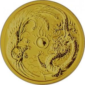 Australie Dragon et Phoenix 1oz d'or fin - 2018