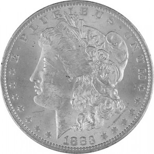 1 US Morgan Dollar 24,05g d´argent - 1878 - 1904, 1924