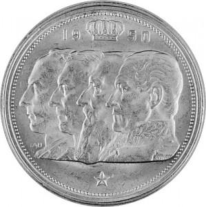 100 Franc Belgique 15,03g d'argent 1948 - 1952