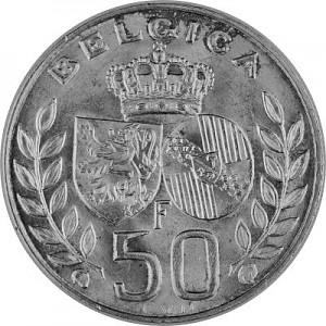 50 Franc Belgique 10,44g d'argent 1948 - 1960