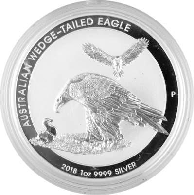 Wedge 1oz australian Aigle Australien Fin Eagle Tailed D'argent ASEPx