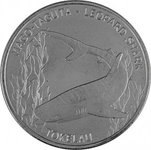 Tokelau Requin Léopard 1 oz d'argent fin - 2018