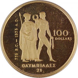 100 Dollar Kanada Olympic 1/2oz d´or fin Proof Coin