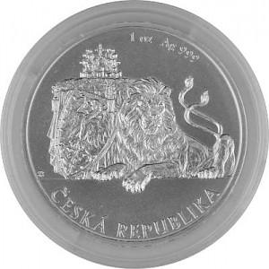 Niue Lion tchèque 1oz d'argent fin - 2018