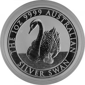 Cygne Australie 1oz d'argent fin - 2018