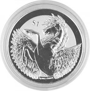 Pegasus - Reverse Givré 1oz d'Argent - 2018