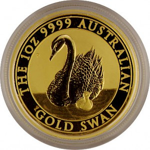 Cygne Australien 1oz d'or fin - 2018