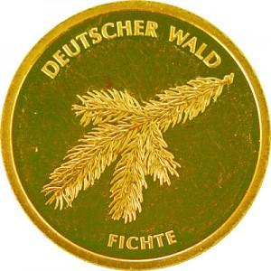 20 Euros d'or Forêt Allemande Épicéa 3,88g d'or fin -  2012