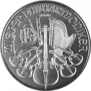 Philharmonique de Vienne 1oz d'platine fin