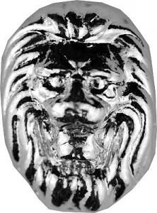 'Tête de lion' lingots coulés 3D - 1oz d'argent fin versé à la main