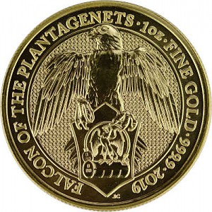 Queens Beasts Falcon 1oz d'or fin - 2019