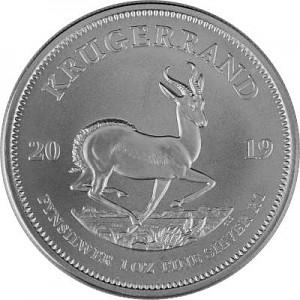 Krugerrand 1oz d'argent fin - 2019