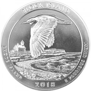 America the Beautiful - Rhode Island Block Island National Wildlife 5oz d'argent fin - 2018