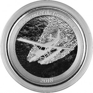 "St. Vincent & The Grenadines ""Hydravion""  1oz d'argent fin - 2018"