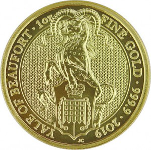 Queens Beasts Yale 1oz d'or fin - 2019
