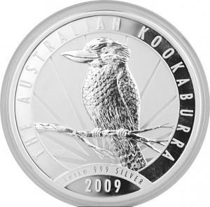 Kookaburra 1kg d'argent fin - 2009