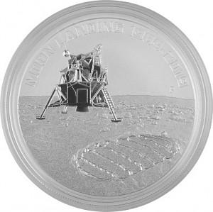 Australie Apollo 11 - 50 ans d'alunissage 1oz d'argent 2019
