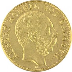 10 Mark allemand Albert Roi de la Saxe 3,58g d'or fin