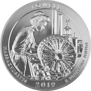 America the Beautiful - Lowell National Historical Park 5oz d'argent fin - 2019