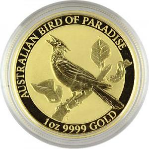 Birds of Paradise - Oiseau paradise Manucodia 1oz d'or fin - 2019