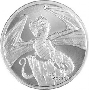 "USA ""The Welsh – World of Dragons"" Ronde 1oz d'argent fin"