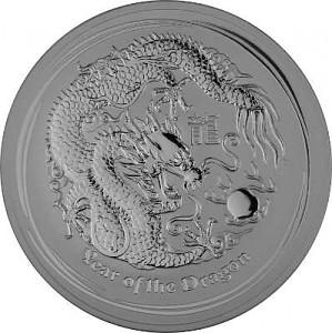Lunar II Dragon 10oz d'argent fin - 2012