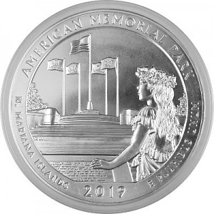 America the Beautiful - Northern Mariana Islands American Memorial Park 5oz d'argent fin - 2019