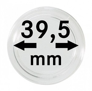 Capsules pour monnaies 39,5mm, 1 pièce