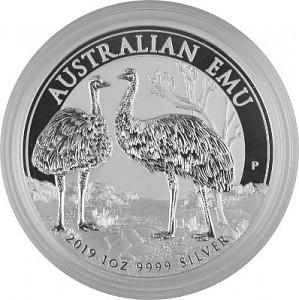 Emu Australie 1oz d'argent fin - 2019
