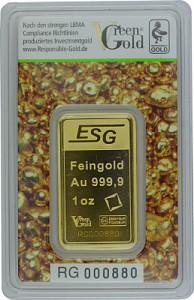 Lingot 1oz d'or fin - Auropelli Responsible-Gold