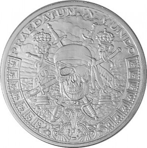 """Pieces of Eight"" Silver Round 1oz d'argent fin BU"