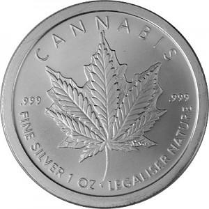 """Cannabis"" Silver Round 1oz d'argent fin 2018 BU"