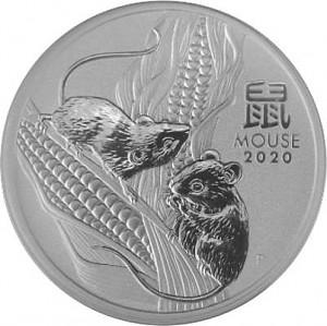Lunar III Souris 1oz d'argent fin - 2020