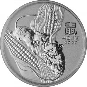 Lunar III Souris 1/2oz d'argent fin - 2020