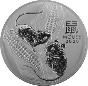 Lunar III Souris 1kg d'argent fin - 2020