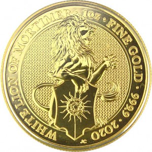 Queens Beasts White Lion 1oz d'or fin - 2020