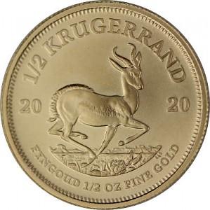 Krugerrand 1/2oz d'or fin - 2020