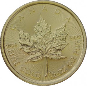 Maple Leaf 1/2oz d'or fin - 2020