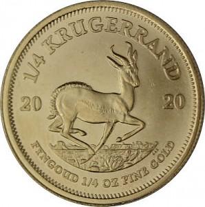 Krugerrand 1/4oz d'or fin - 2020