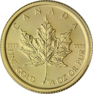 Maple Leaf 1/4oz d'or fin - 2020