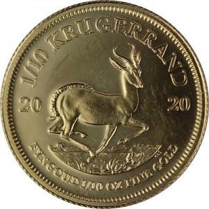 Krugerrand 1/10oz d'or fin - 2020