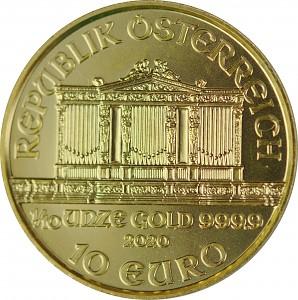 Philharmonique de Vienne 1/10oz d'or fin - 2020