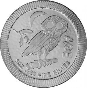 Niue Athènes hibou - 1oz d'argent fin - 2020