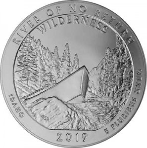 America the Beautiful - Idaho Frank Church River 5oz d'argent fin - 2019