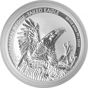 Aigle Australien (Australian Wedge Tailed Eagle) 1oz d'argent fin - 2020