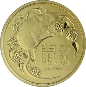 Lunar Rat Royal Australien Mint 1oz d'or - 2020