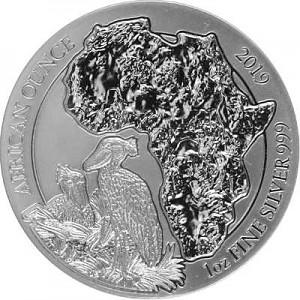 Bec-en-sabot du Rwanda 1oz d'argent fin - 2019 (TVA normale)