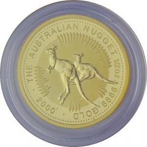 Australian Kangourou 1/2oz d'or fin - 2000